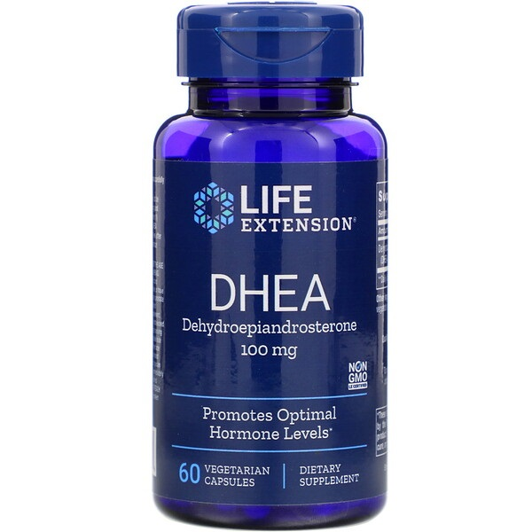 DHEA, 100 mg, 60 tabletten, Life Extension