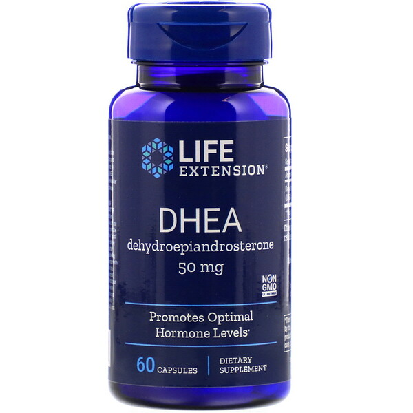 DHEA, 50 mg, 60 tabletten, Life Extension