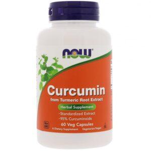Kurkuma (Curcumine), 60 veggie capsules, Now Foods