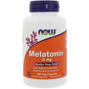 Melatonine, 5mg, 180 veg capsules, Now Foods
